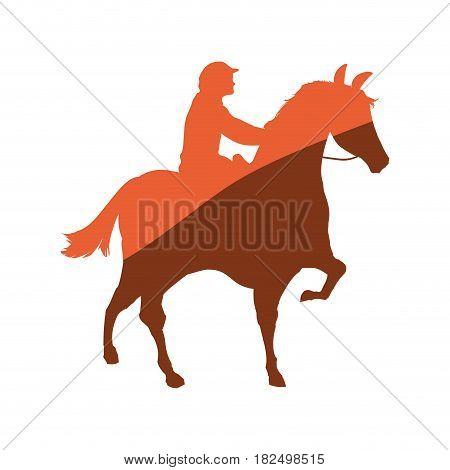 Horse riding equestrian sport icon vector illustration graphic design