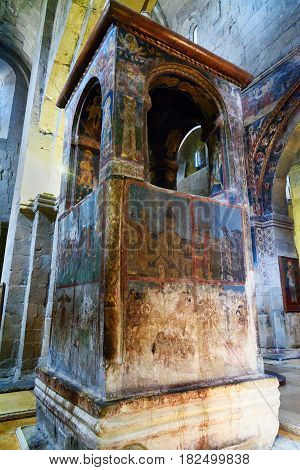 Monument Above Saint Sidonia's Grave And Life-giving Pillar. Inside Of Svetitskhoveli Cathedral In M