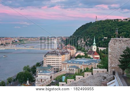Gellert hill is a famed hill on the Buda side of Budapest