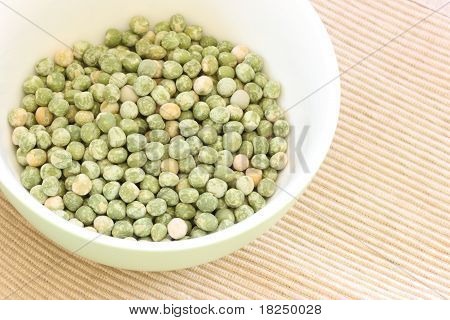 Dried Green Pea In A Bowl