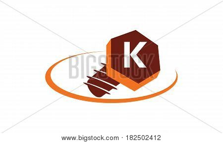 This vector describe about Industrial Solutions Initial K
