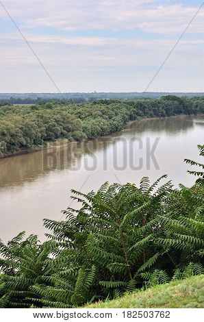 beautiful summer landscape in south of Russia
