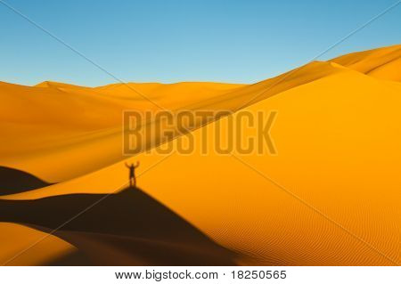 On Top Of The Sand Dunes - Awbari Sand Sea, Sahara Desert, Libya