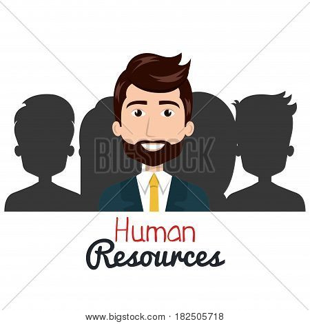 human resources search isolated vector illustration eps 10