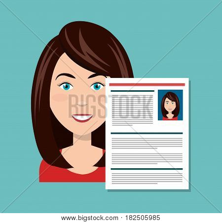 icon woman character fcae isolated vector illustration eps 10