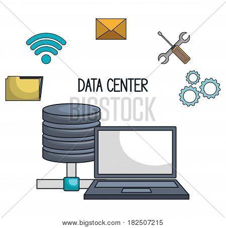laptop icon technology digital isolated vector illustration eps 10