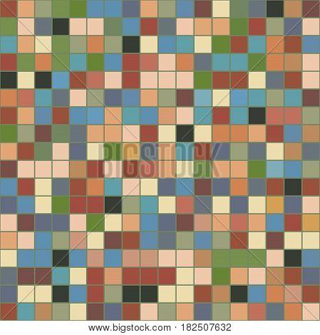 фон квадрат пиксели разноцветные плитки  в теплы