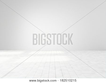 Empty white space. Mock-up template for display products title or logo. Studio or blank office space. 3d illustration