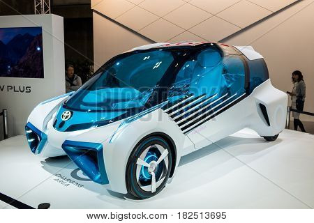 Toyota  Fcv Plus, A Multifunctional Hydrogen Electricity Concept Car Presented On Nagoya Motor Show