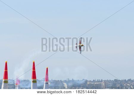 Kirby Chambliss Of Usa Performs During Red Bull Air Race.