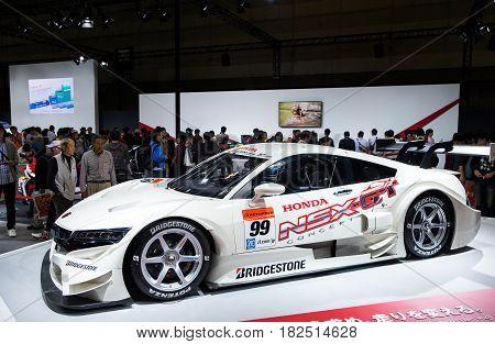 Honda Nsx-gt Super Gt Car Presented On Nagoya Motor Show 2015 In Nagoya, Japan