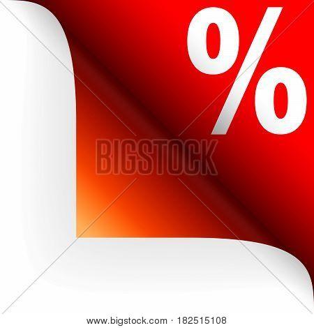 Paper Corner With Discount Symbol