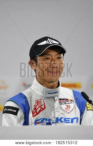 San Diego USA - April 16 2017: Yoshihide Muroya during press conference the Red Bull Air Race World Championship.