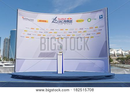 Air Race San Diego Trophy Stage In The Podium