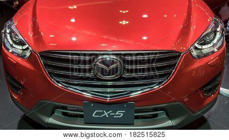 Crossover Mazda Cx-5 Awd Presented On Nagoya Motor Show 2015 In Nagoya, Japan