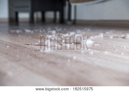 Dust and dirt dirt under the bed