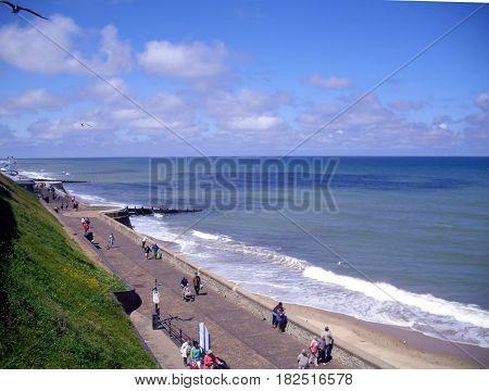 The Promenade in Sunshine at Cromer Norfolk