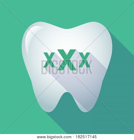 Long Shadow Tooth With  A Xxx Letter Icon