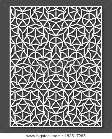 Penrose tiling stile laser cutting panel. Vector geometric ornament.