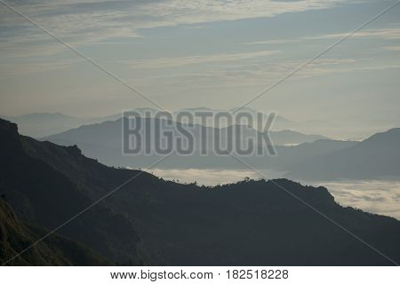 Thailand Chiang Rai Phu Chi Fa Landscape