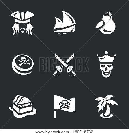 Pirate, ship, sparrow, black mark, sword, corpse, chest, flag, island.