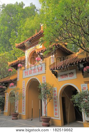 Quan Su Temple in Hanoi Vietnam. Quan Su Temple was built in the 15th century under the Le Dynasty