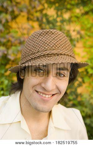 Close up of Hispanic man smiling