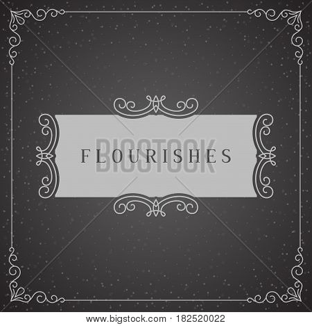 Royal Logo Design Template Vector Decoration, Flourishes Calligraphic Elegant Ornament Frame Lines. Good for Luxury.