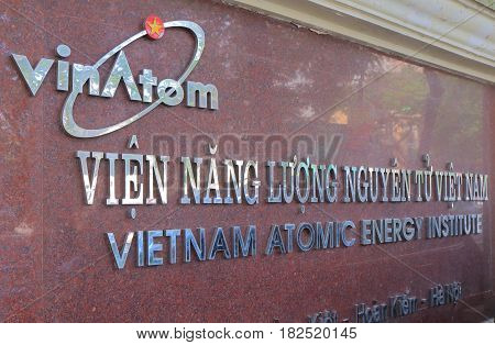 HANOI VIETNAM - NOVEMBER 22, 2016: Vietnam Atomic Energy Institute. Vietnam Atomic Energy Institute is responsible for policies strategies and planning for atomic energy development in Vietnam.
