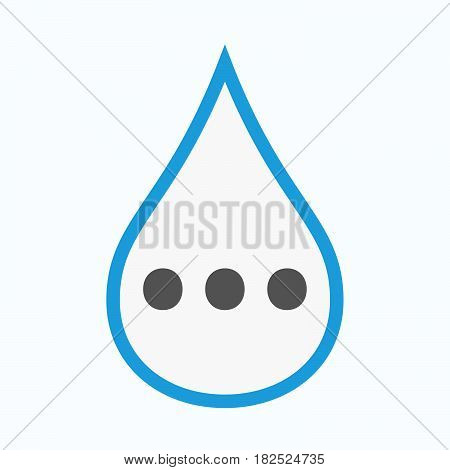Isolated Water Drop With  An Ellipsis Orthographic Sign