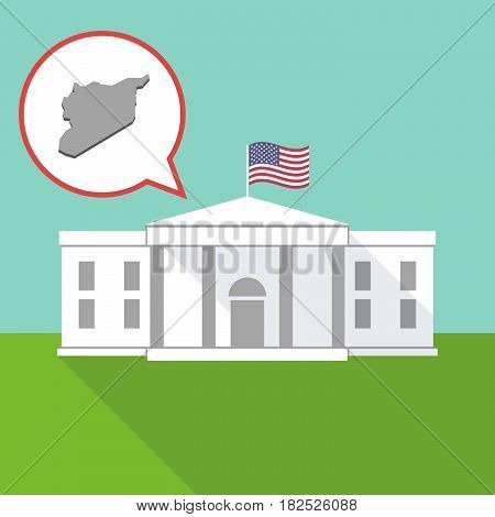 The White House With  The Map Of Syria