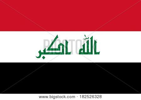 Illustration of the flag of Iraq looking like it is painted onto a wall.