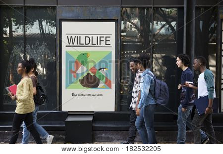 Wildlife Save Animals Protect Support Graphic