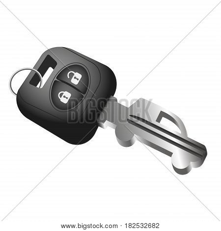 Car key and car symbol. Sale rental and purchase of cars.