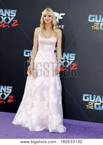 Anna Faris at the Los Angeles premiere of 'Guardians Of The Galaxy Vol. 2' held at the Dolby Theatre in Hollywood, USA on April 19, 2017.