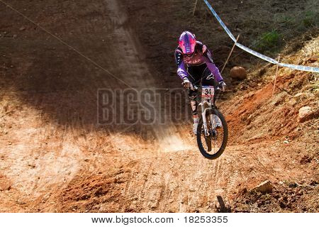 Downhiller Practice Run Uphill Jump
