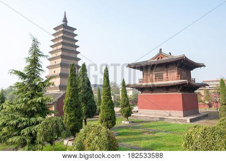 Hebei, China - Oct 23 2015: Kaiyuan Temple. A Famous Historic Site In Zhengding, Hebei, China.