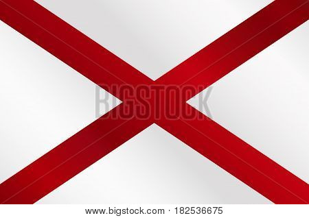 The flag of the United States stae Alabama