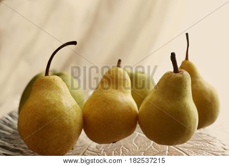 Yellow Pear Cose Up Poto