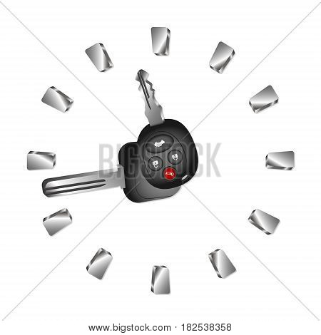 Auto rental abstract clock for business vector