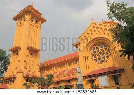 Historical Cua Bac Church in Hanoi Vietnam