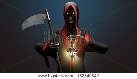 Death With A Scythe 3D Render Background