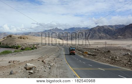 Mountain Road In Ladakh, India