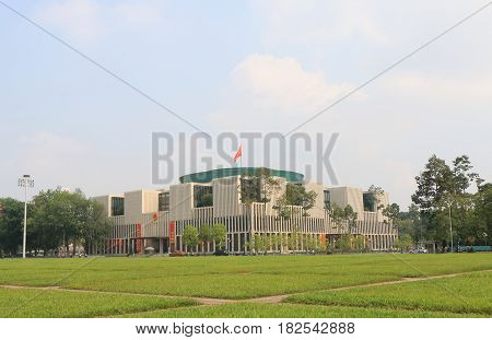 HANOI VIETNAM - NOVEMBER 23, 2016: National Assembly office. National Assembly office is used by the National Assembly of Vietnam for its sessions and other official functions.
