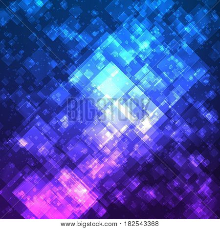 Abstract vector mesh background. Random transparent squares. Futuristic technology style. Elegant background for business presentations. Flying debris. eps10