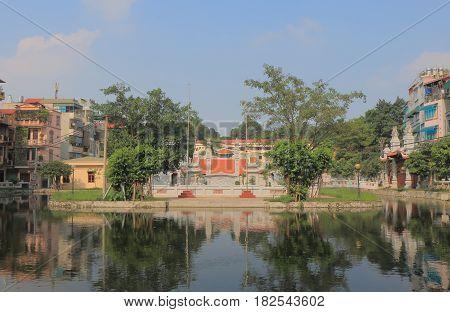 Dinh Ngoc Ha temple in Hanoi Vietnam