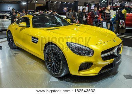 Mercedes-amg Gt S  Presented On Nagoya Motor Show 2015 In Nagoya, Japan
