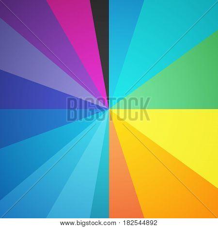 Color Circle Spectrum Half