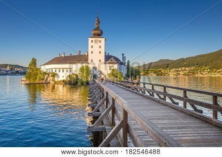Schloss Orth At Sunset, Gmunden, Austria