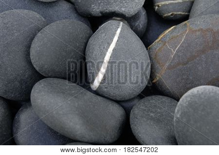 Zen stack of pebbles on the beach